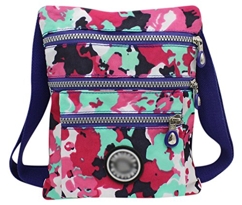 - Aibearty Boho Nylon Crossbody Bag Tribal Little Purse Cell Phone Pouch, Colorful Camouflage