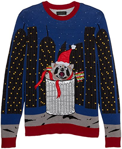 c024341d7 Blizzard Bay Men's Raccoon City LED Crew Neck Ugly Xmas, Spectrum ...
