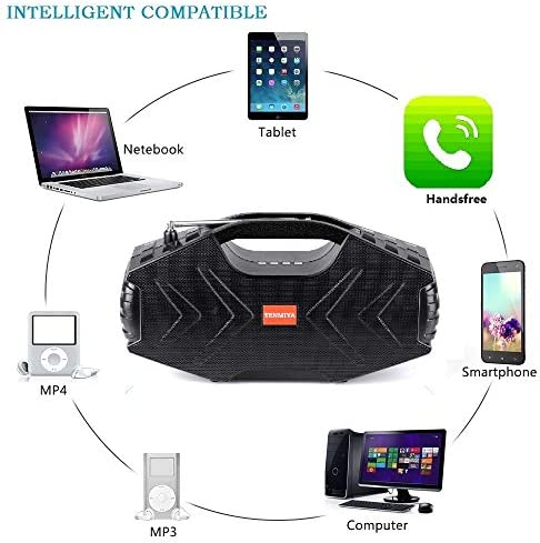 Portable Bluetooth Speakers with Subwoofer Bluetooth 5.0 Wireless 100ft Outdoor Speaker, Wireless Outdoor/Indoor Party Speakers Powerful Home Speaker Support for Phone Computer PC TV