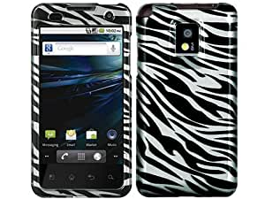 Zebra Silver Crystal 2D Hard Case Cover for LG Optimus 2X G2X P999
