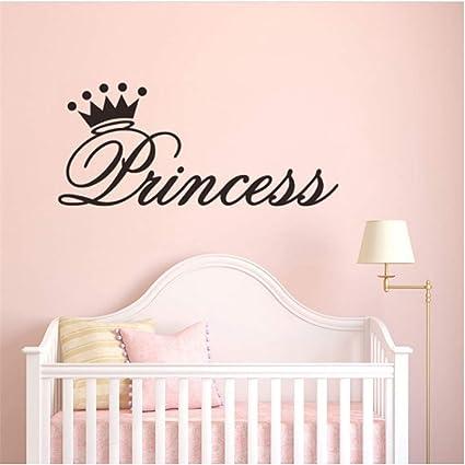 Shuyinju Vinilo Princesa Corona Pegatinas De Pared Habitación De