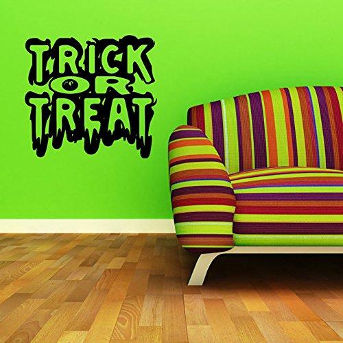 Smartcoco DIY Creative Halloween English Letters Wall Sticker Vivid Wall Decals Kid Room Living Room Bedroom Halloween Decors 50X55cm