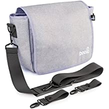 2 in 1 Stroller Organizer and Baby Diaper Bag - 5 Compartments, Lots of space, Light and Durable (grey)