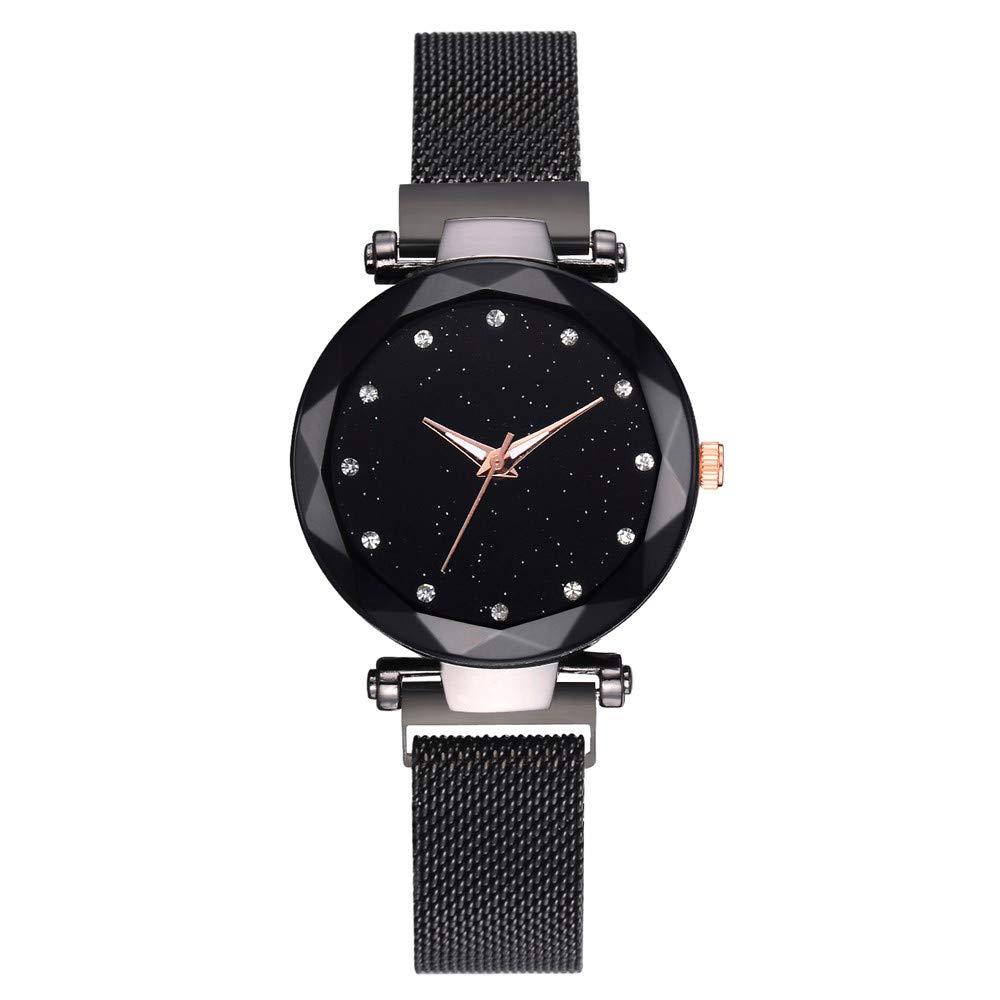 Clearance Watches for Women Wugeshangmao Girl's Fashion Analog Quartz Watch, Ladies Casual Mesh Belt Quartz Analog Watch Business Casual Watch Gift