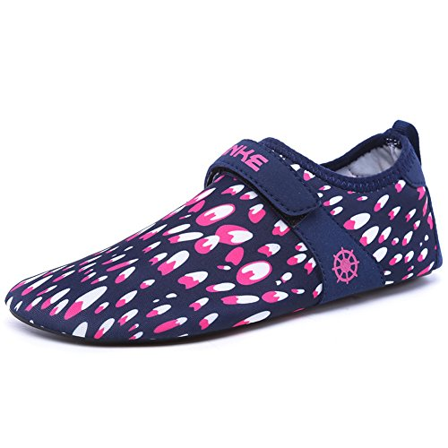 Z.SUO Men Women and Kids Quick-Dry Water Shoes Aqua Socks For Beach Swim Surf Yoga Exercise Rose Red XSJxJ2TOF