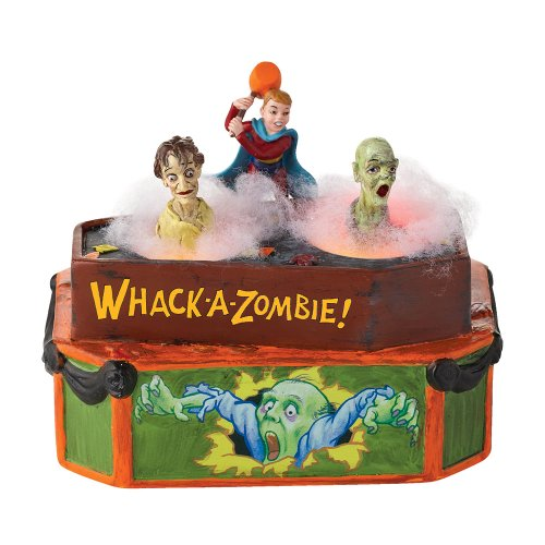Department 56 Accessories for Villages Halloween Whack-a-Zombie Animated Accessory, 5.04 inch -