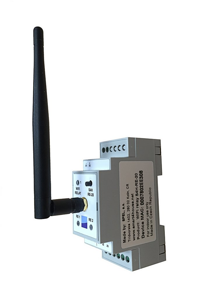 DIN Rail WiFi Relay, iOS and Android, Wireless