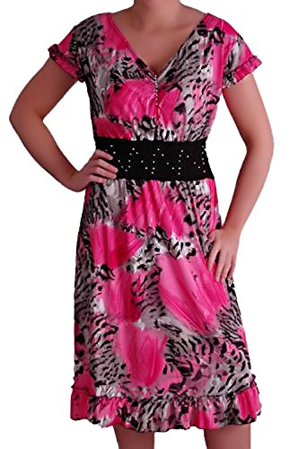 EyeCatch unique stretch Taille Rose imprim Femme Robe Karla USrU8Rq