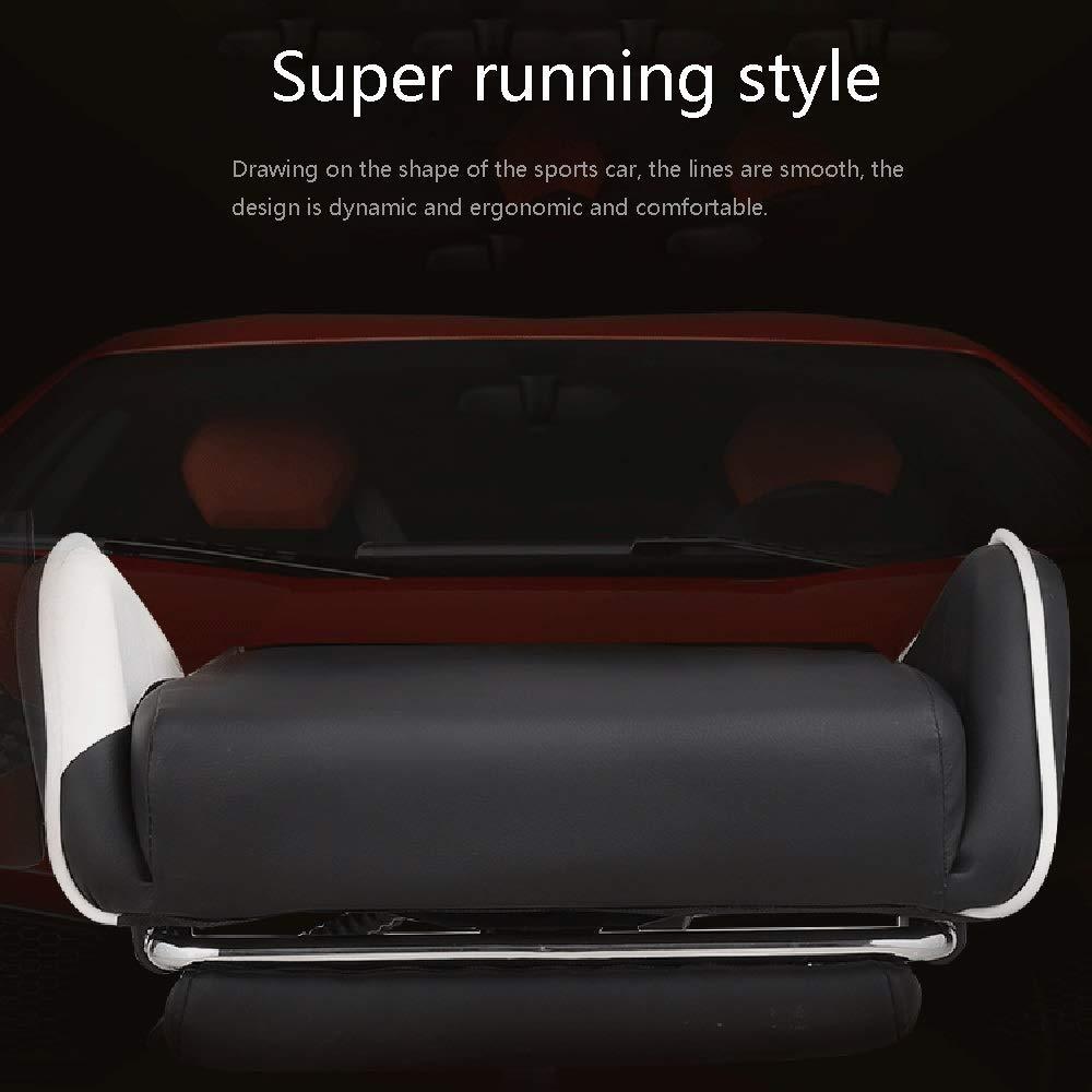 JIEER-C stol svängbar stol racerstol, ergonomi hög rygg spelstol justerbar kontorsstol med nackstöd och ländrygg massagestöd, svart Röd