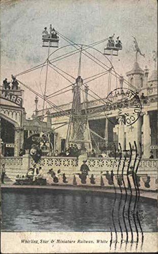 Whirling Star and Miniature Railway, White City Chicago, Illinois Original Vintage Postcard