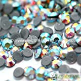 Top Quality Czech Crystal Rhinestone Flatback Hotfix AB Color Beads Iron on Pick Size:ss6(1.9-2.0mm)
