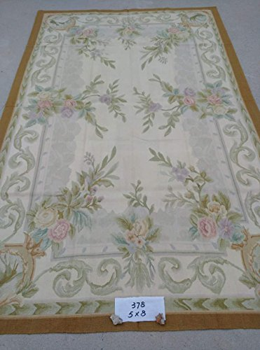 yilong-carpet-5x8-handmade-royal-french-aubusson-palace-carpet-ivory-vintage-floral-wool-rugs