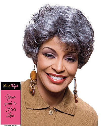 Elen Wig Color 2 Dark Brown - Foxy Silver Wigs Short Collar Curly Shag Synthetic Soft Bang African American Women's Machine Wefted Lightweight Average Cap Bundle with MaxWigs Hairloss Booklet ()