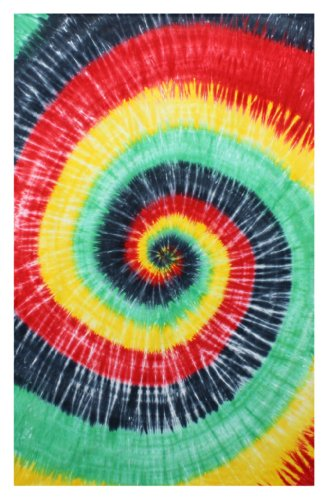 - Rasta Spiral Tie-Dye Tapestry Hanging Wall Art - Great for Apartments, Dorms, Homes, and Office