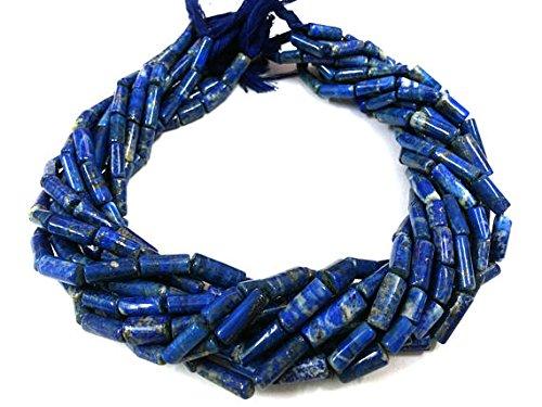 Lazuli Beads Tube Lapis (Full 13 Inch Strand Lapis Lazuli Smooth Tube Cylinder Beads Gemstone Bead Strand,Lapis Lazuli Gemstone,Blue Lapis Lazuli Gemstone Pipe 10 strand quanity.)