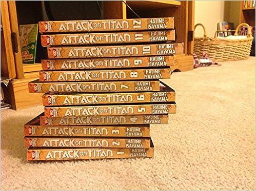 ATTACK ON TITAN BOOK SET #'s 1-12