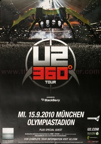 U2 - 360° Black MUC 2010 - Poster, Concertposter, Concert for sale  Delivered anywhere in Canada