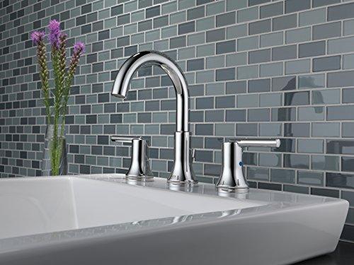 Delta Faucet Trinsic 2 Handle Widespread Bathroom Faucet With