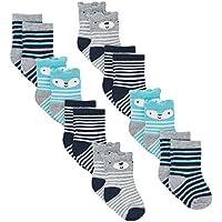 Gerber Baby Boys 8 Pair Socks, Bear, 0-6 Months