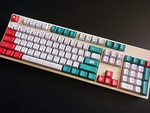 White//Green//Red Suitable for Mechanical Keyboards ,104 OEM Height MX Switches 87//104//108 Key Caps SSSLG PBT Keycap