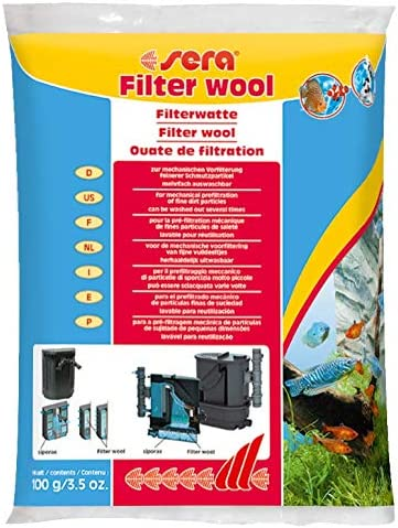 sera Filterwatte verschiedene Größen weiss & fein für Aquarium und Teich sowie Pool im Filter gegen alle Wassertrübungen und ideal zur leichten Reinigung von Scheiben oder Rändern auf Wänden