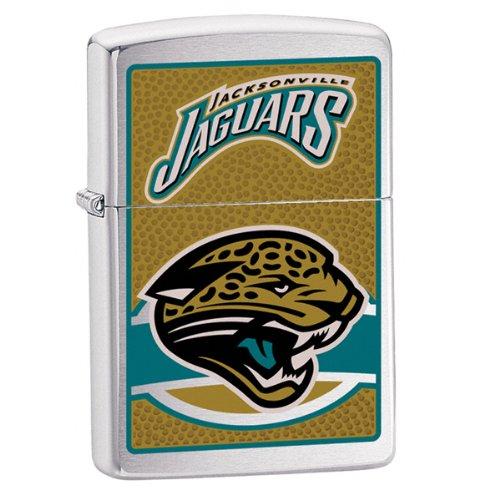 (Zippo NFL Jacksonville Jaguars Lighter (Silver, 5 1/2 x 3 1/2 cm) )