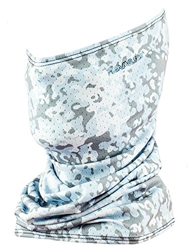 Fishmasks Single Layer Neck Gaiter - Lightweight, Fishing Protection From Sun, Wind And Moisture - Made In USA - UPF 50+ Moisture-Wicking Fabric - Dot Camo Blue