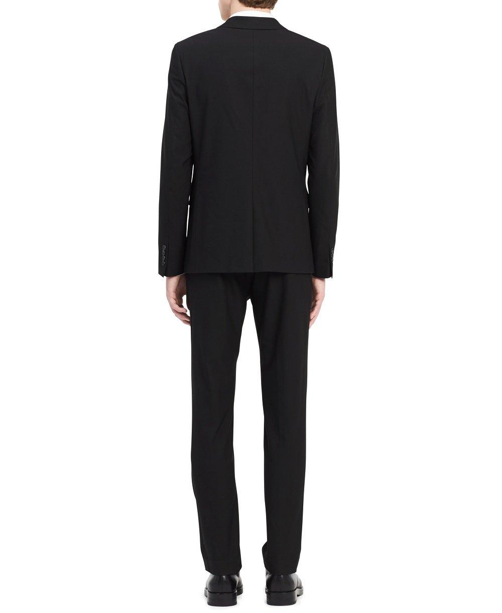 Calvin Klein Men's Infinite Slim Fit Suit Jacket 4-Way Stretch, Black, SMALL R by Calvin Klein (Image #2)
