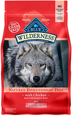 BLUE Wilderness Adult Small Breed Healthy Weight Grain Free Chicken Dry Dog Food 4.5-lb