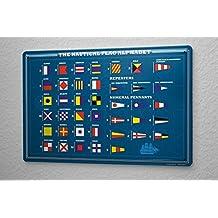 Tin Sign World Trip Nautical flags alphabet