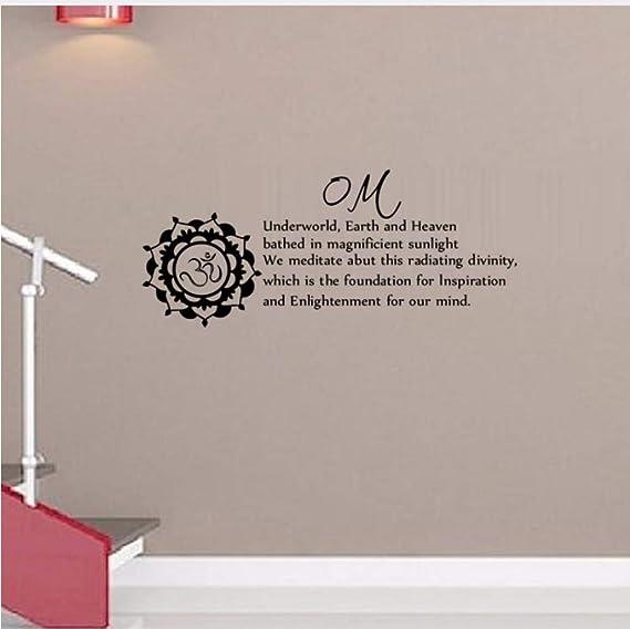 Lyqyzw Underworld Earth And Heaven Wall Stickers Om Sign Mandala ...