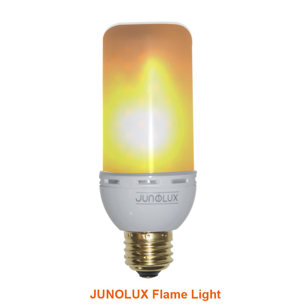 JUNOLUX LED Creative Lighting Bulbs Flame Light Burning Effect Decorative Fire Flickering Simulation,Christmas decorations,Pack of 1 (Flame Effect Bulbs)