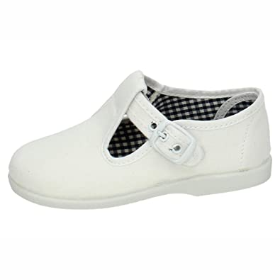 MADE IN SPAIN 952 Bambas Blancas Lona NIÑO Zapatillas Blanco 23: Amazon.es: Zapatos y complementos