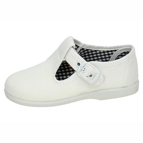 MADE IN SPAIN 952 Bambas Blancas Lona NIÑO Zapatillas Blanco 23: Amazon.es: Zapatos y complementos