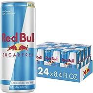 Red Bull Energy Drink Sugar Free 24 Pack of 8.4 Fl Oz, Sugarfree (6 Packs of 4)