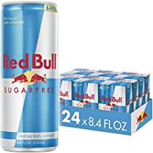 Red Bull Energy Drink Sugar Free 24 Pack 8.4 Fl Oz, Sugarfree (6 Packs of 4)