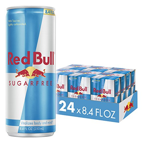 Red Bull Energy Drink Sugar Free 24 Pack of 8.4 Fl Oz, Sugarfree (6 Pack of 4)