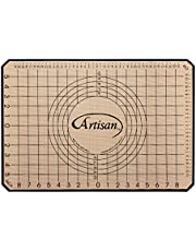 Artisan Silicone Baking Mat for Half-Size Cookie Sheet with Ruler Border