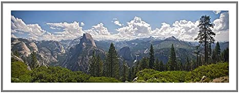 Amazon Com Artwall Yosemite Half Dome And Nevada Falls Flat Unwrapped Canvas Art By Dan Wilson 16 By 40 Inch Posters Prints