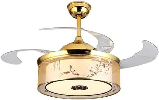 Luz de ventilador de techo Nuevo ventilador de música Bluetooth ...