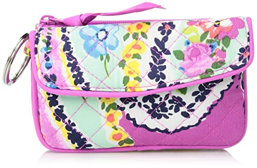 Vera Bradley Iconic Jen Zip ID, Signature Cotton, Wildflower ()