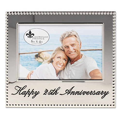 Lawrence Frames 4x6 Happy 25th Anniversary Picture Frame