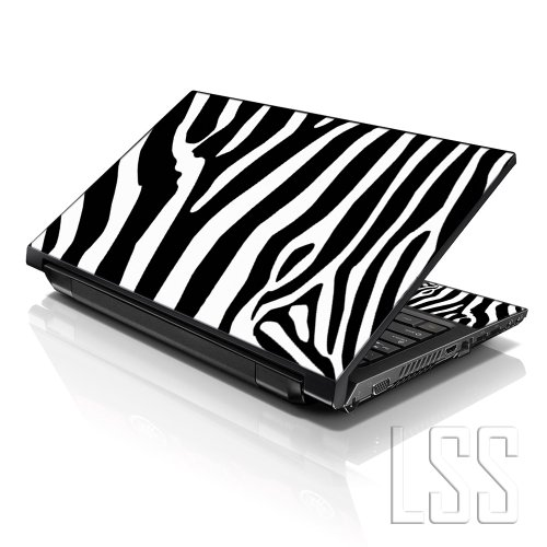 LSS Laptop 15 15.6 Skin Cover with Colorful Zebra Print Pattern for HP Dell Lenovo Apple Asus Acer Compaq - Fits 13.3