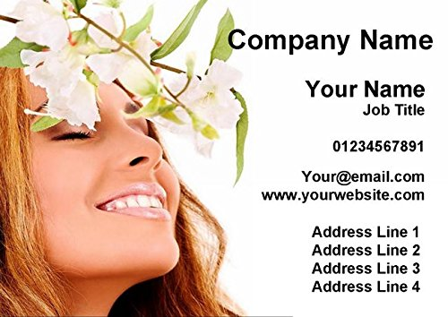 Spa Treatment Beauty Hair Nails Massage Personalized Business Cards