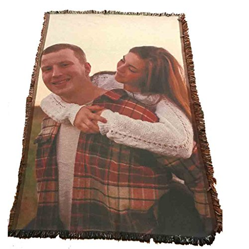 VictoryStore Blanket - Custom Wedding Photo Woven Blanket, Full Color Print - 35