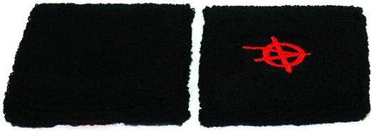 wuerfel24 Schwei/ßband//Armband//Handgelenkband Schwarzer Stern auf Rot//Anarchie 1 St/ück