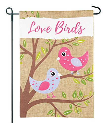JEC Home Goods Love Birds Garden Flag - Great Valentine Gard