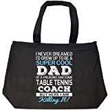 Super Cool Dad Of Awesome Table Tennis Coach Dad Funny Gift - Tote Bag With Zip