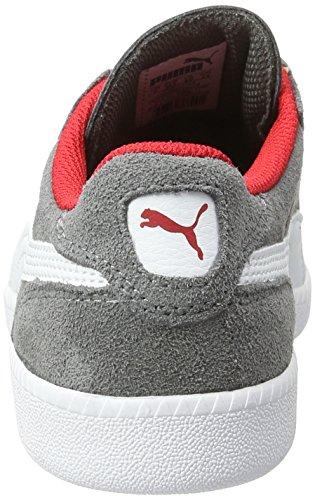 Puma Unisex-Kinder Icra Trainer SD Jr Low-Top Grau (steel gray-puma white 14)
