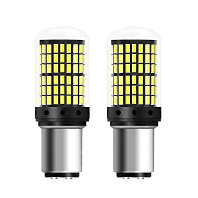 1157 LED Bulb Reverse Light Bulbs 2800 LM 6500K Xenon White Extremely Bright 144-SMD 2057 2357 7528 1157A LED Bulbs 9-30V with Projector for Backup Reverse Lights,Tail Brake Lights (Pack of 2): Automotive